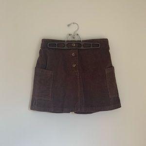 Cute corduroy button skirt